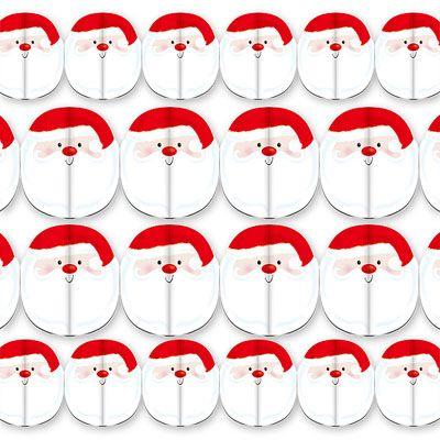Гирлянда Дед Мороз 15*240 см