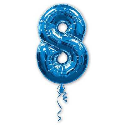Шар-фигура Цифра 8 Синяя