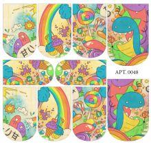 Слайдер-дизайн для ногтей № 0048