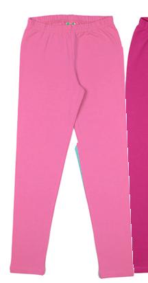 Лосины для девочки Ярко-розовые