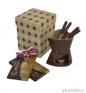 """Набор с фондю """"Горький шоколад"""" на 4 персоны"""