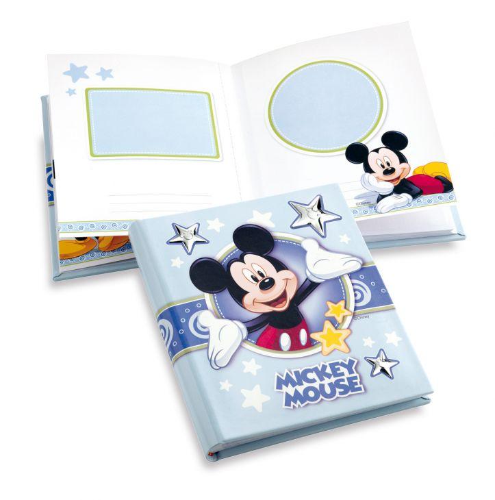 Детский кожаный фотоальбом с серебряными вставками Disney, 20*25 см (Италия)