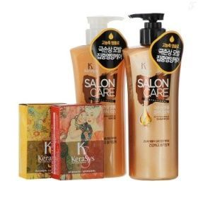 Подарочный набор Салон Кэр Питание №4 KeraSys (шамп 470гр + конд 470гр + мыло 2шт + подарочная коробка)