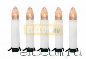 """Гирлянда """"Свечи LED"""" 4 м, 20 диодов, цвет теплый белый"""