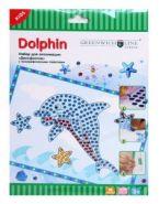 """Набор для аппликации """"Дельфинчик"""". С голографическими стикерами (GL49703-4) Greenwich Line"""
