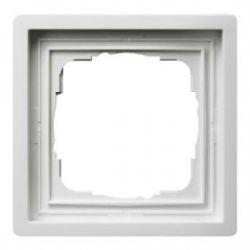 Gira F100 Рамка 1-ая,глянцевый белый