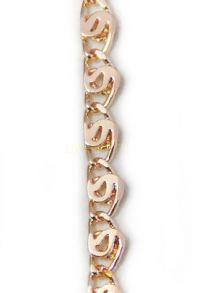 Позолоченная цепочка / браслет с элегантным плетением, 4 мм