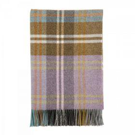 """Шотландский шерстяной плед, 100 % стопроцентная шерсть ягнёнка, расцветка  """"лес Калбин"""" Culbin , плотность 8"""