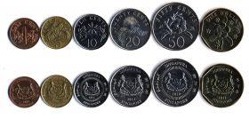 Флора Набор монет Сингапур 1994-2012