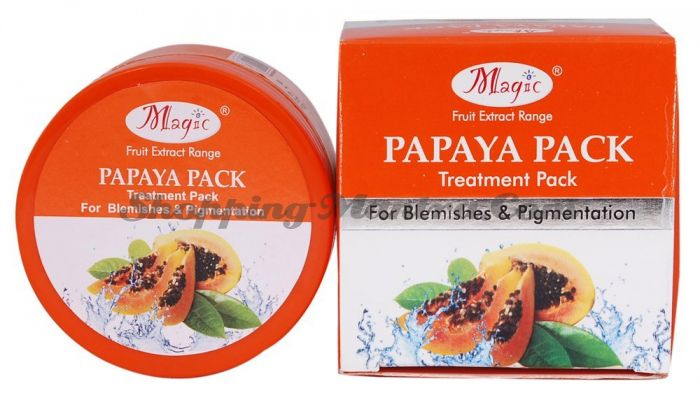 Маска против пигментных пятен Папайя Меджик Аюрведа / Magic Ayurveda Papaya Face Pack