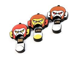 4GB USB-флэш накопитель EVIL MONKEY, злая обезьяна  желто-коричневая