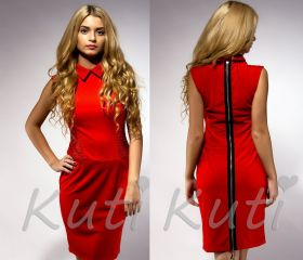 Красное платье Victoria Beckham