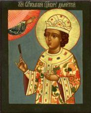Икона Дмитрий Угличский (рукописная)