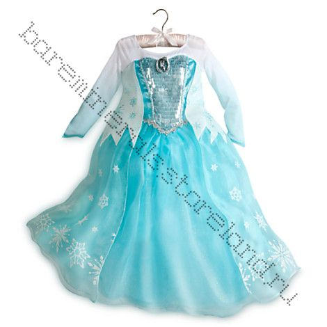 Костюм ЛЮКС Эльзы - Elsa Costume Frozen на рост 140 см