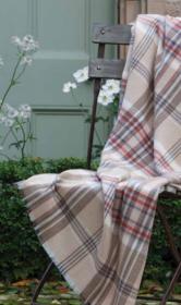 """легкий мериносовый плед из Шотландии, Коллекция """" Летний Сад"""" , расцветка Кэмэл ,Camel & Rust Country Garden Merino плотность 4"""
