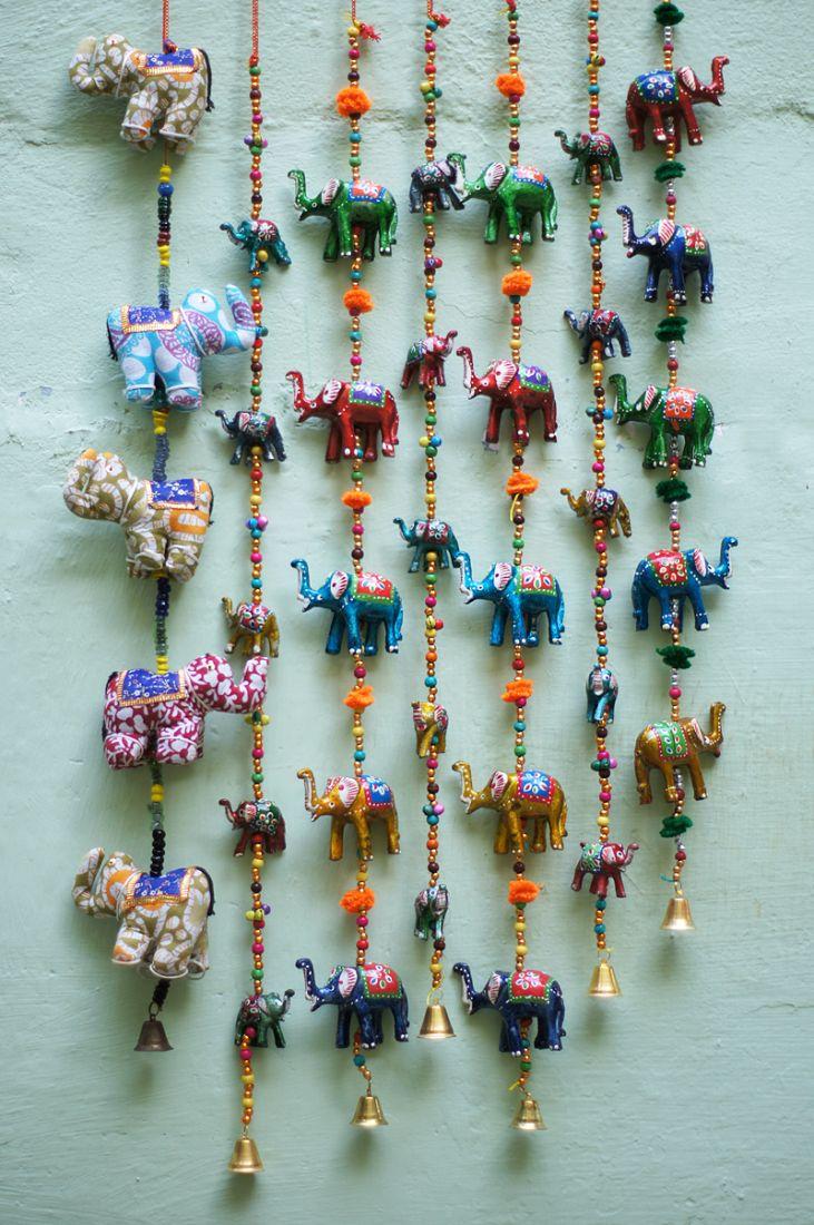 Индийская гирлянда со слонами (отправка из Индии)