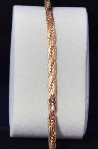 """Позолоченная цепочка или браслет """"Тройная змейка"""", 5 мм (арт. 250114)"""