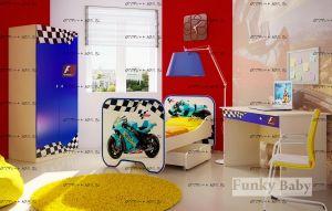 Детская комната Мотогонки №2