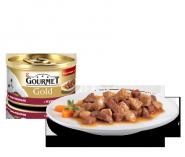 Gourmet Gold - Кусочки в подливке (с курицей и печенью) (85 г)