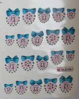 Водная наклейка для дизайна ногтей BLE-1081