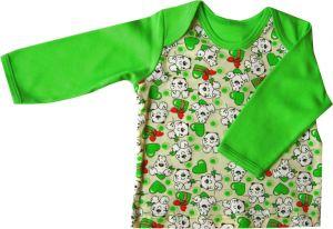 зеленая майка с длинным рукавом