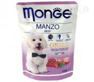 Monge Dog Grill Pouch Паучи для собак говядина (100 г)