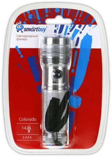 Светодиодный алюминиевый фонарь 14 LED Smartbuy Colorado, серебристый