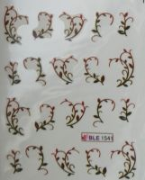Водная наклейка для дизайна ногтей BLE-1541