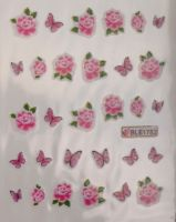 Водная наклейка для дизайна ногтей BLE-1782