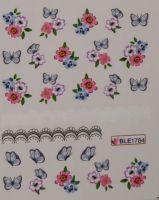Водная наклейка для дизайна ногтей BLE-1784