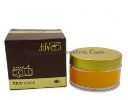 Маска для лица антивозрастная с 24карата золотом Джовис / Jovees 24 Carat Gold Face Pack