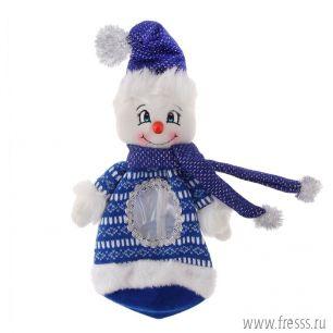 Снеговик новогодний мешочек, 450 гр.