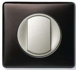 Клавиша  выкл. на 2 напр. с этикеткой Legrand Celiane Титан(арт.68314)