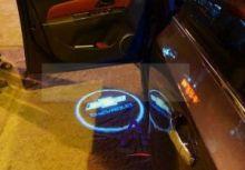 LED проекция, логотип Chevrolet, на 2 двери