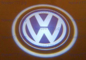 LED проекция, логотип VW, на 2 двери