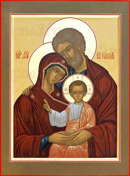 Икона Святое Семейство (рукописная)