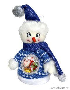 """Мешочек """"Снеговик"""", конфеты и пряники с предсказаниями"""