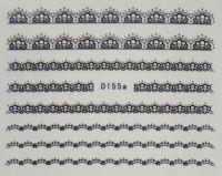 Водная наклейка для дизайна ногтей D155 черный