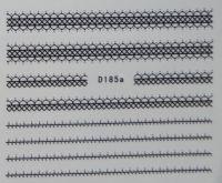 Водная наклейка для дизайна ногтей D185 черный