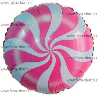 Шар леденец розовый 46 см