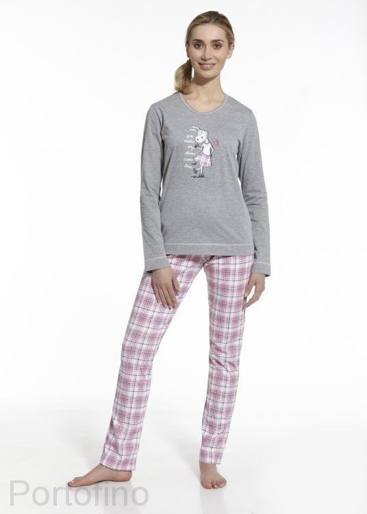 8f48767e605ae 655/38 женская пижама с длинным рукавом и брюками Cornette. Купить ...