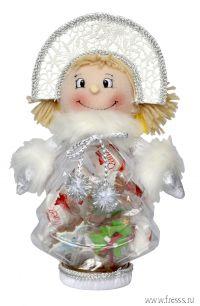 """Подарок """"Снегурочка"""", конфеты и пряники с предсказаниями"""