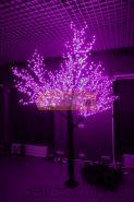 """Светодиодное дерево """"Сакура"""", высота 1,5м, диаметр кроны 1,8м, фиолетовые светодиоды, IP 54, понижающий трансформатор в комплекте, NEON-NIGHT"""
