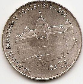 150 лет Народному Пражскому музею(1818-1968) 25 крон Чехословакия 1968