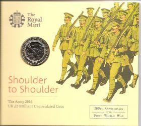 Сухопутные войска.Первая Мировая Война. 2 фунта Великобритания 2015