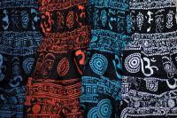 индийские штаны шаровары с символом Ом (Аум)