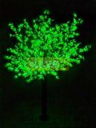 """Светодиодное дерево """"Сакура"""", высота 3,6м, диаметр кроны 3,0м, зеленые светодиоды, IP 54, понижающий трансформатор в комплекте, NEON-NIGHT"""