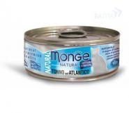 Monge Cat Natural Консервы для кошек атлантический тунец (80 г)