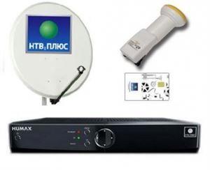 Установка НТВ + комплекта FULL HD РЕСИВЕР HUMAX VAHD 3100