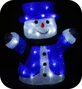 "Фигура ""Снеговик в цилиндре"", 30см"